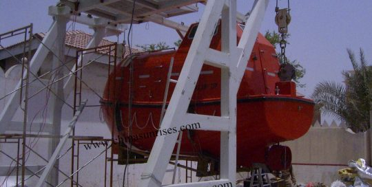 Lifeboat-and-Davit-for-Training