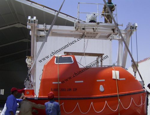 Lifeboat and Davit for Training