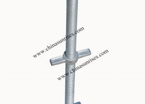 Scaffolding adjustable base jack U head