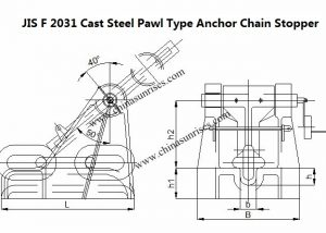 JIS F 2031 Cast Steel Pawl Type Anchor Chain Stopper