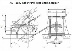 JIS F 2032 Roller Pawl Type Chain Stopper