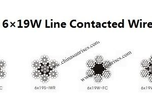 6×19S 6×19W Line Contacted Wire Rope