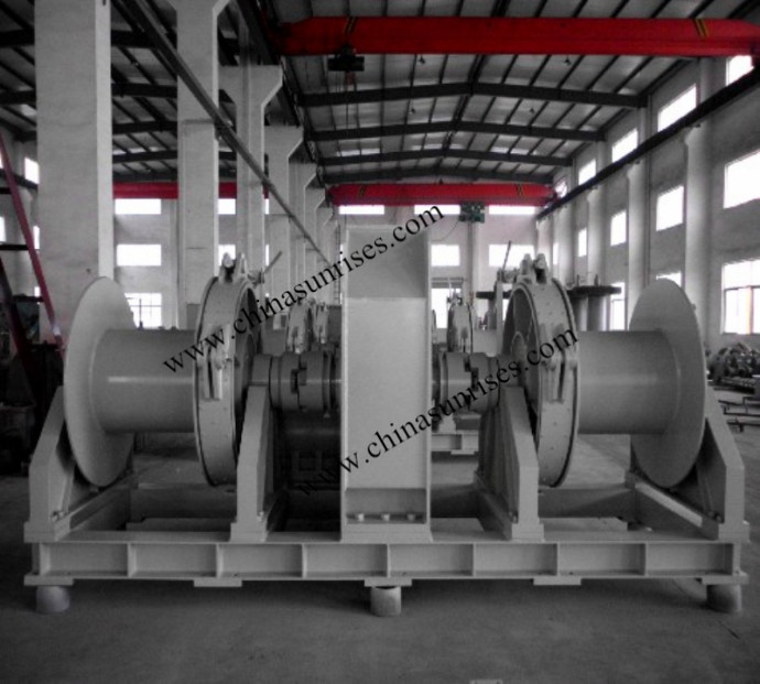 Hydraulic Combined Mooring Winch Two Drum Chinasunrises